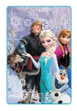 Frozen Polar Fleece Blanket
