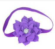 Lotus Flower Headband – Purple