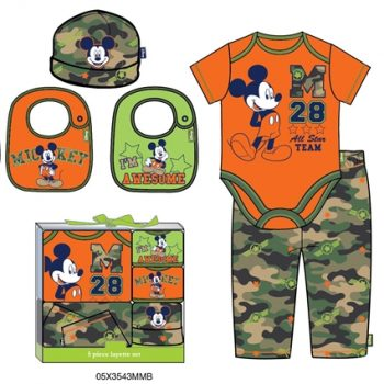 Mickey Mouse 5 Piece Gift Set (0 -6 months)