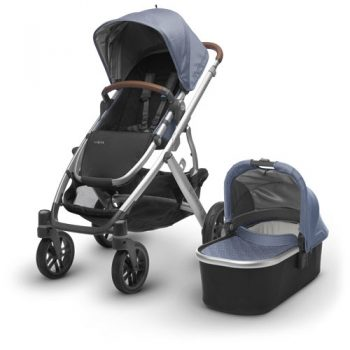 UPPAbaby VISTA – With Bassinet – Blue Marl (Henry)