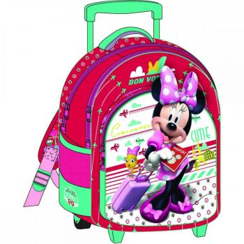 Minnie Mouse Trolley Backpack – Red