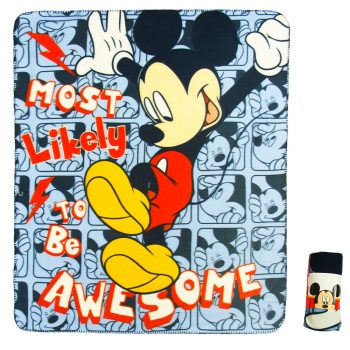Mickey Mouse Polar Fleece Blanket – Awesome