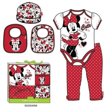 Minnie Mouse 5 Piece Gift Set (0 -6 months)