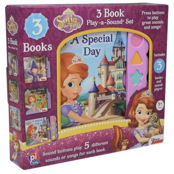 Sofia the First 3 Book Play-A-Sound Box Set