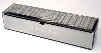 Teddy Birth Certificate Box