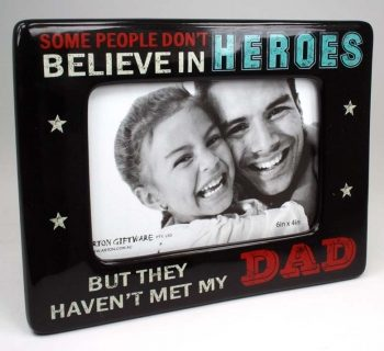 Super Dad Photo Frame 6×4 – Believe in Heroes