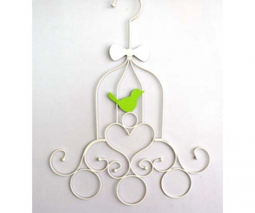 Wire Scarf Hanger Bird Cage Design