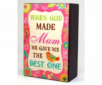 Wall Decor – God Made Mum