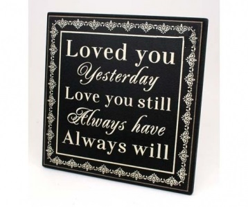 "Wall Decor – ""Love You"" wall hanging"