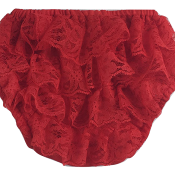 Lace Ruffle Bottoms – Red