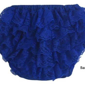 Lace Ruffle Bottoms – Royal Blue