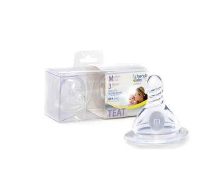 Medium Flow Peristaltic Teats – Standard Neck 2 pack