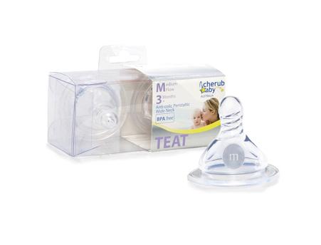 Medium Flow Peristaltic Teats – Wide Neck 2 pack