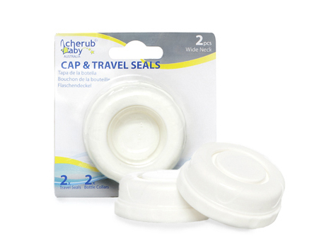 Wide Neck Bottle Cap & Travel Seals- 2 pack