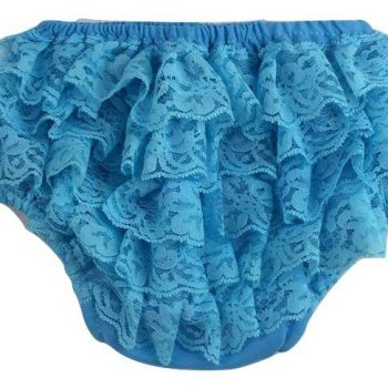Lace Ruffle Bottoms – Turquoise