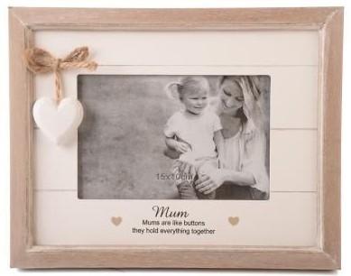 Mum Inspirational Heart Photo Frame