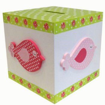 Wooden Money Box – Birds