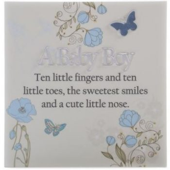 Plaque – Mirrored Message – Baby Boy