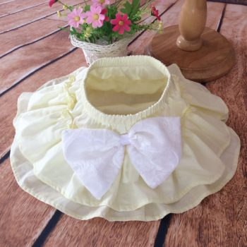 Ruffle Bottoms Cotton – Ivory with White bow