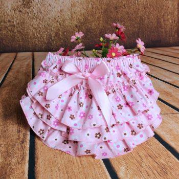 Ruffle Bottoms Cotton – Retro Pink Flower