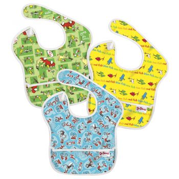 Waterproof 3 pack Dr Seuss Super Bibs