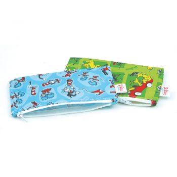 Waterproof Dr Seuss Design Small Snack Bags – 2 pack
