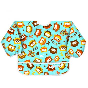 Waterproof Long Sleeved Bib – Owl Design