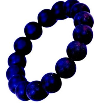 Teething Bracelet Round Bead – Navy
