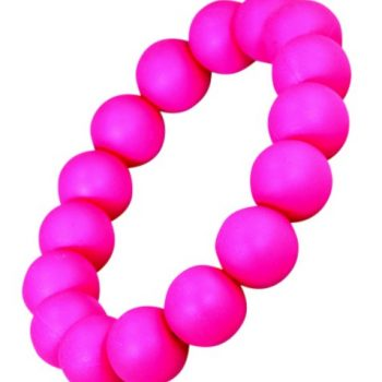 Teething Bracelet Round Bead – Crimson