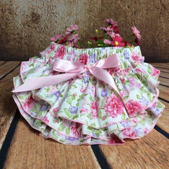 Ruffle Bottoms Cotton – Vintage Pink Rose