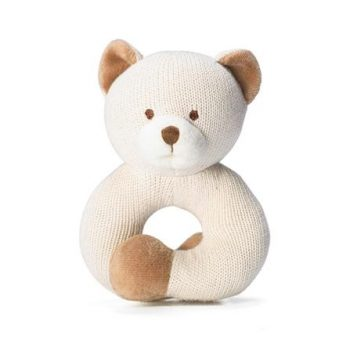 miYim Organic Knitted Rattle Teether – Bear