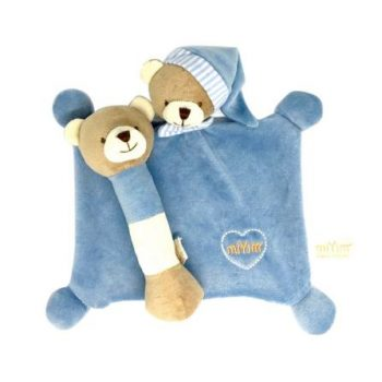 miYim Organic Plush Gift Set – Bear Blue