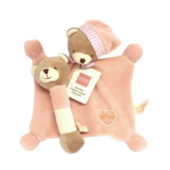 miYim Organic Plush Gift Set – Bear Pink