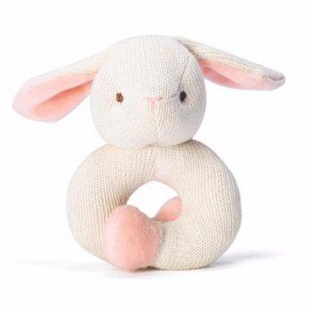 miYim Organic Knitted Rattle Teether – Bunny