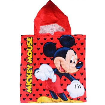 Mickey Mouse Hooded Towel – Red