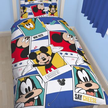 Mickey Mouse Smile Quilt Cover Set – Single