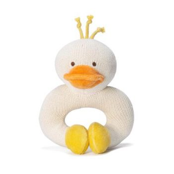 miYim Organic Knitted Rattle Teether – Duck