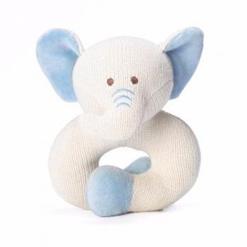 miYim Organic Knitted Rattle Teether – Elephant