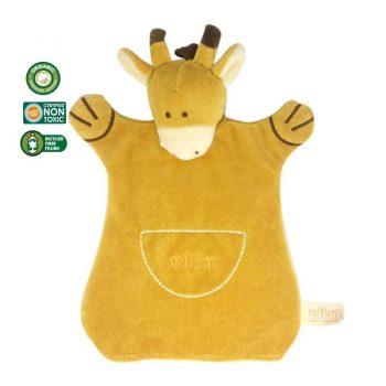 miYim Organic Puppet Blankie – Sam Giraffe