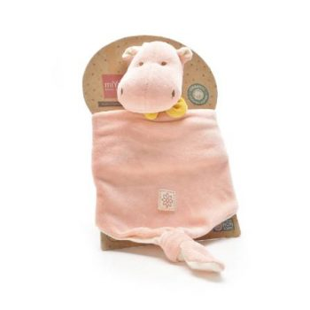 miYim Organic Alex Hippo Lovie -Security Blanket