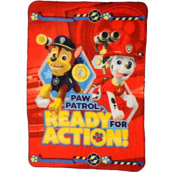 Paw Patrol Polar Fleece Blanket – Ready for Action