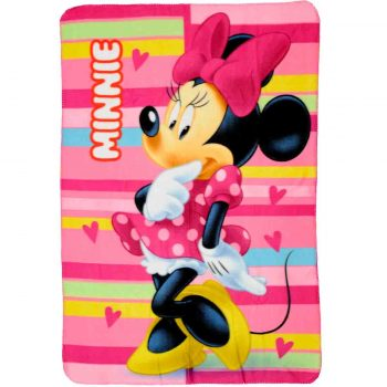 Minnie Mouse Polar Fleece Blanket – Pink