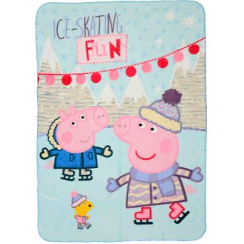 Peppa Pig & George Polar Fleece Blanket – Ice-Skating