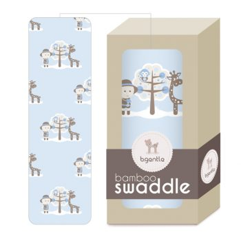 Large Bamboo Swaddle Baby Blue