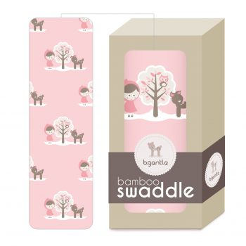 Large Bamboo Swaddle Baby Pink