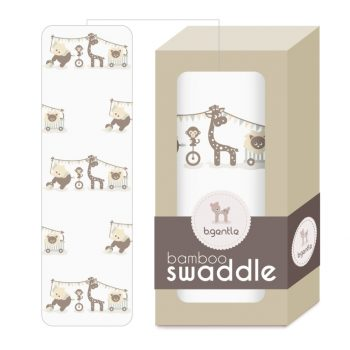 Large Bamboo Swaddle White