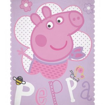 Peppa Pig  Polar Fleece Blanket – Happy