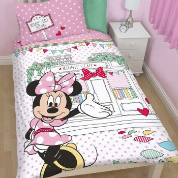 Minnie Mouse Cafe Quilt Cover Set – Single
