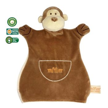 miYim Organic Puppet Blankie – Fred Monkey