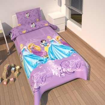 Princess Purple Quilt Cover Set – Single